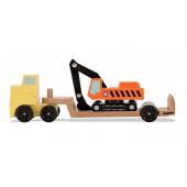Деревянный грузовик с экскаватором
