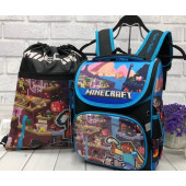 Рюкзак школьный Minecraft Майнкрафт (синий)